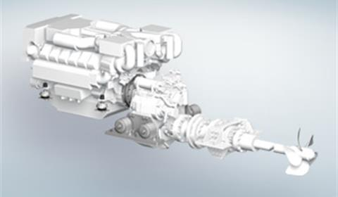 Double-Engine Diesel Drive for Yachts