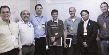 Eric Boon with the project managers of Aramar